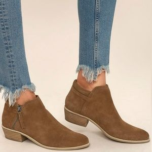 Steve Madden Tobii Suede Leather Ankle Booties